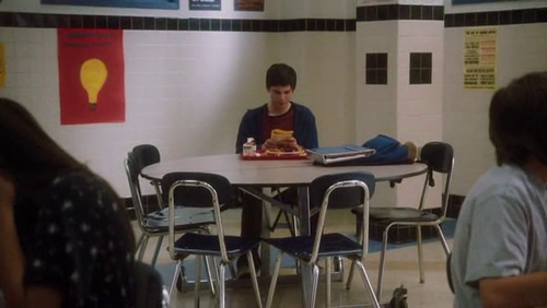 Eat alone in a Cafeteria