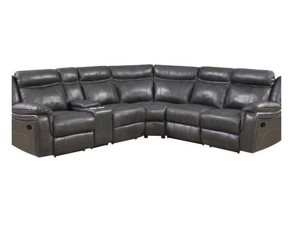 Lindell 6-piece Top Grain Leather Reclining Sectional