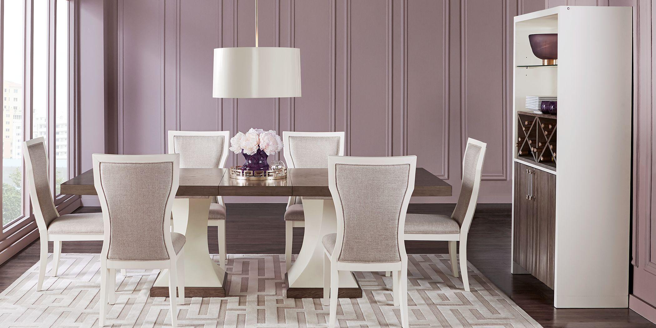 Sofia Vergara Santa Fiora White 5 Pc Dining Room Set