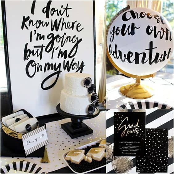 Black & White Classic Themed Party
